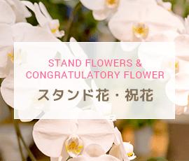 大阪府 堺市駅前の花屋 フラワーショップ花治 STAND FLOWERS & CONGRATULATORY FLOWER スタンド花・祝花